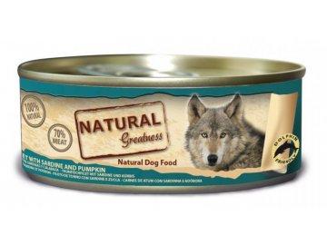 Natural Greatness filet tuňák + sardinky - konzerva pro psy 156 g konzervy pro psy