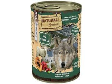Natural Greatness jehněčí, papaya, brusinky pro psy 400 g konzerva pro psy 20377153708cz
