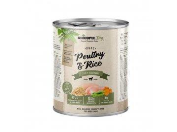 CHICOPEE ADULT čisté drůbeží s rýží konzerva pro psy 800 g konzerva pro psa