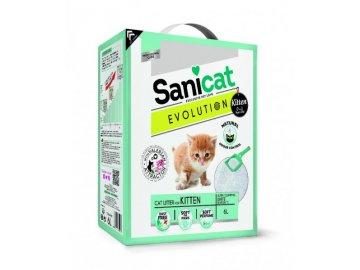 Sanicat EVOLUTION Kitten bílý, jemný, hrudkující 6 L/5,1 kg