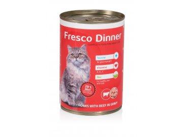 Fresco Dinner cat hovězí 415 g habeo.cz