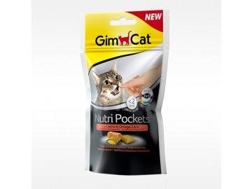 GIMCAT Nutri Pockets losos a omega 3 × 60 g habeo.cz