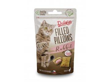 Plněné polštářky pro kočky - králičí 40g