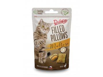 Plněné polštářky pro kočky - s maltózou 40g