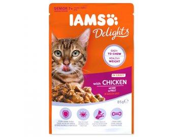 Kapsička IAMS Cat Senior Delights Chicken in Gravy 85 g habeo.cz