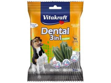 Vitakraft Dental sticks 3in1 FRESH S 120 g dentální pamslky pro psy habeo.cz