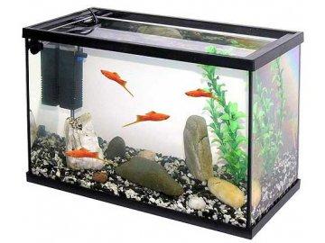 Akvárium set PACIFIC KID 40 x 25 x 20 cm - 20 Litrů bez osvětlení akvárium pro děti vybavené akvárium akvarium s příslušenstvím