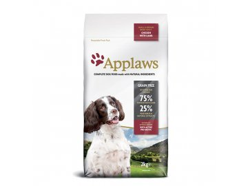 Applaws granule Dog Adult Small & Medium Breed Kuře s jehněčím 2 kg