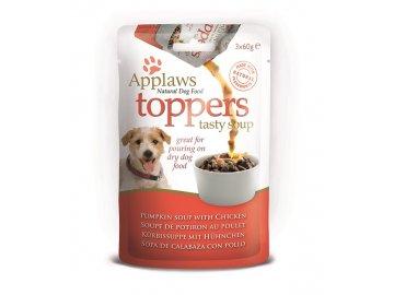 Applaws toppers Dog dýňová polévka s Kuřetem 3 x 60 g pro psy habeo.cz