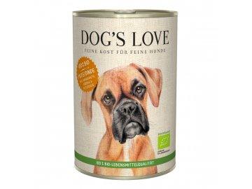 Dog's Love konzerva Bio Krocan 400 g