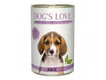 Dog's Love konzerva Junior Classic Jehně 400 g
