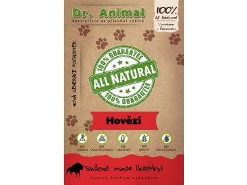Dr. Animal - sušené hovězí maso kostky 80 g