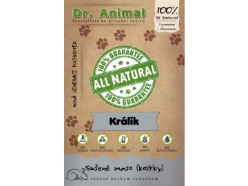 Dr. Animal - sušené králičí maso kostky 80 g