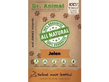Dr. Animal - sušené maso zvěřina (jelen, daněk, králík) kostky 80g