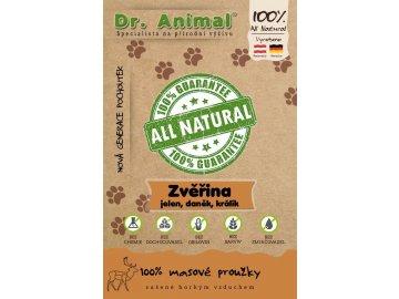 Dr. Animal - zvěřina (jelen, daněk, králík) proužky 80 g