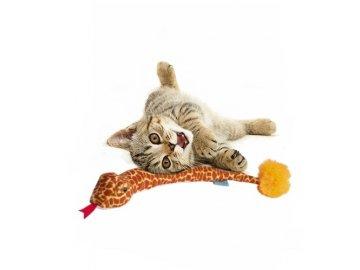 Funky Feline Snake Orange Giraffe se šantou kočičí