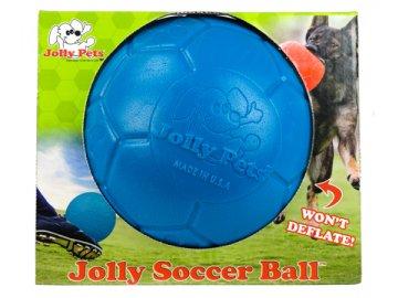 Jolly  fotbalový míč 20 cm - modrý