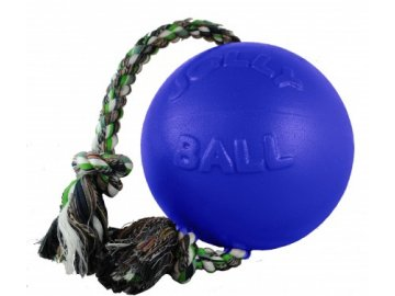 Jolly Ball Romp-n-Roll 15 cm - míč s provazem modrý
