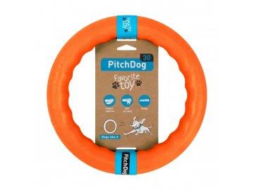 PitchDog tréninkový Kruh pro psy oranžový 28cm
