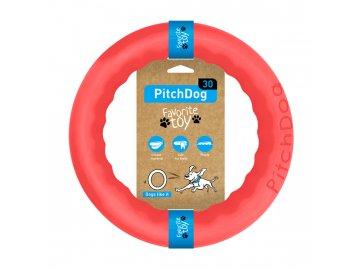 PitchDog tréninkový Kruh pro psy růžový 28cm