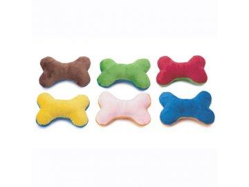 Plyšová kost Doggles - mix barev