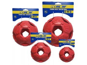 Turbo Kick Soccer Ball 10 cm - fotbalový míč pro psy, červený