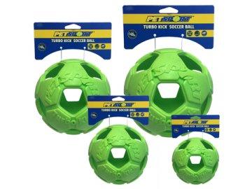 Turbo Kick Soccer Ball 10 cm - fotbalový míč pro psy, zelený