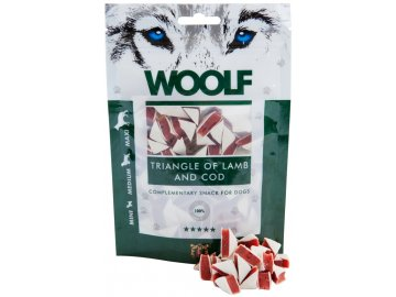 Woolf Triangle of Lamb and Cod 100 g  - pamlsky pro psy