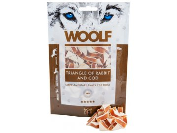 Woolf Triangle of Rabbit and Cod 100 g  - pamlsky pro psy