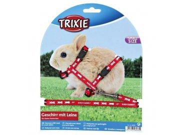 Postroj pro králíky s motivem BABY BUNNY postroj pro králíčky vodítko pro zakrslého králíka