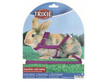Postroj s vodítkem nylon pro králíky