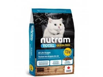 t24 nutram total grain free salmon trout cat bezobilne krmivo losos a pstruh pro kocky a kotata