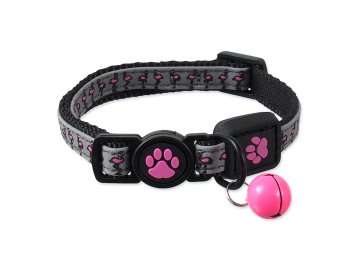 Obojek ACTIVE CAT Reflective růžový XS