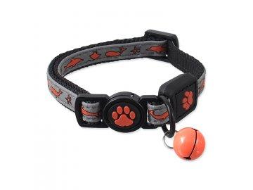 Obojek ACTIVE CAT Reflective oranžový XS
