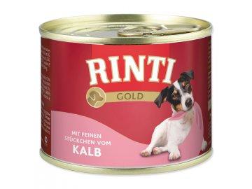 Konzerva RINTI Gold telecí 185 g konzervy pro štěňata