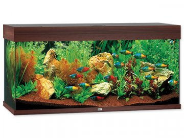 Akvárium set JUWEL Rio LED 180 l tmavě hnědé akvárko