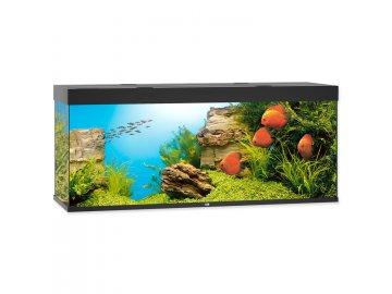 Akvárium set JUWEL Rio LED 450 l černé akvárko