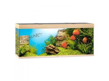 Akvárium set JUWEL Rio LED 450 l dub akvárko na prodej