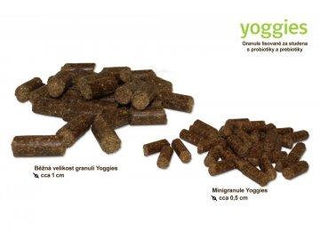 Yoggies 4 kg Kuřecí a hovězí granule lisované za studena s probiotiky