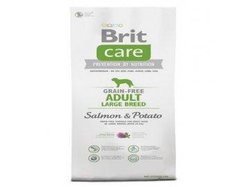 BRIT CARE 1 kg ADULT GRAIN-FREE LB SALMON & POTATO granule pro psy