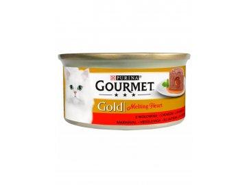 gourmet gold cat konzerva melting heart s hovezim r
