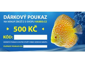 Dárkový poukaz 500,- kč sleva dárek kód slevový kód nákup pro zvířátka habeo.cz