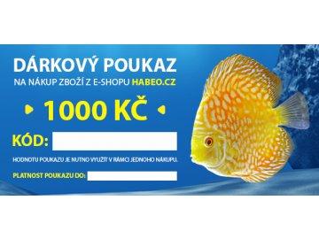 dárkový poukaz 1000 kč habeo.cz dárek nákup na e-shopu dárkový poukaz chovatelské potřeby granule dárek pro pejskaře dárek pro rybáře habeo.cz
