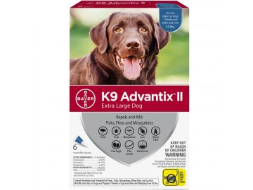 6 month k9 advantix ii blue for extra large dogs over 55 lbs 30
