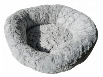 Košík kolo polyester 50 cm stříbrná