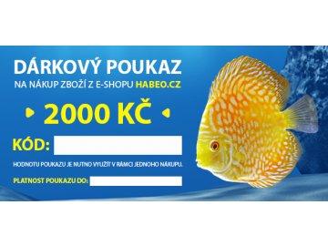 Dárkový poukaz v hodnotě 2000,- Kč - vytištěný v obálce