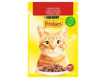 Friskies Cat hovězí ve šťávě 85 g