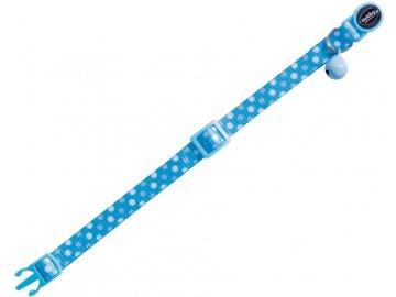 Circle Blue obojek s rolničkou pro kočky modrý 1ks