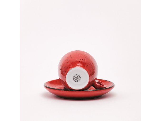 Espresso šálka s logom - červená
