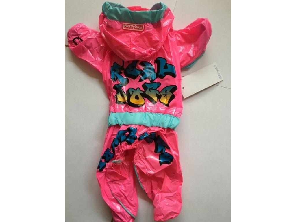 9586b82b3aa Neonově růžová pláštěnka pro fenky pro psy - Hafana